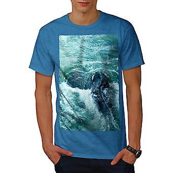 Rock Ocean Wild Nature Men Royal BlueT-shirt | Wellcoda