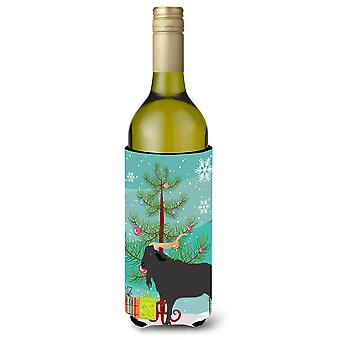 Verata Goat Christmas Wine Bottle Beverge Insulator Hugger