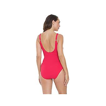 Seaspray SY007051 Women's Pink Solid Colour Costume One Piece Swimsuit