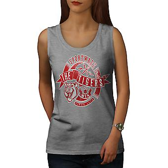 Sportware Tiger Frauen GreyTank Top | Wellcoda