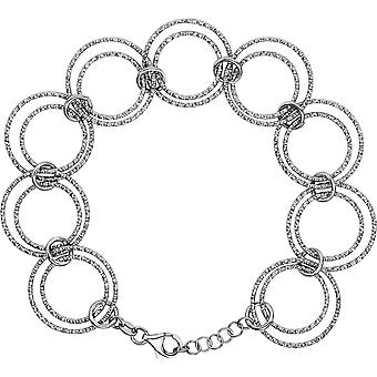 925 Sterling Silver Circle Chain Bracelet 8 Inch Jewelry Gifts for Women - 13.4 Grams