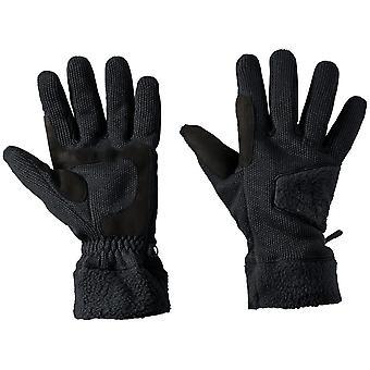 Castillo de Jack Wolfskin hombres Rock cálido punto guantes del paño grueso y suave cepillado