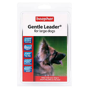 BEAPHAR GENTLE LEADER FOR LARGE DOGS, L, BLACK LEAD