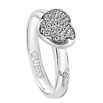 Υποθέτω γυναικεία δαχτυλίδι ανοξείδωτο ατσάλι ασημί κρύσταλλο UBR72501