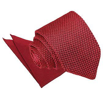 Bordowy sweter wąski krawat & placu kieszeni zestaw