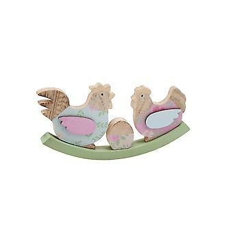 CGB Giftware See Saw Chickens