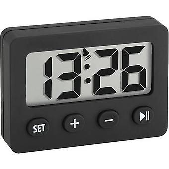 TFA Dostmann 60-2014-01 Quartz Alarm clock Black Alarm times 1