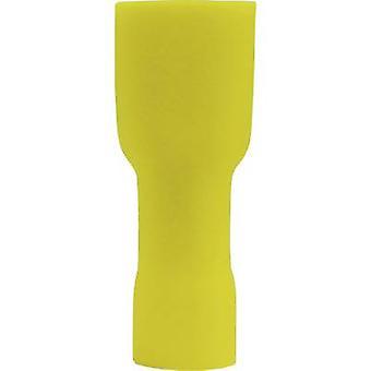 Vogt Verbindungstechnik 3947S Klinge Buchse Stecker Breite: 6,3 mm Stecker Stärke: 0,8 mm 180° isoliert gelb 1 PC