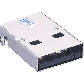 לומברג 2410 08 USB 2.0 תקע מחבר, מטען אופקי התקנה התקע, בזווית,