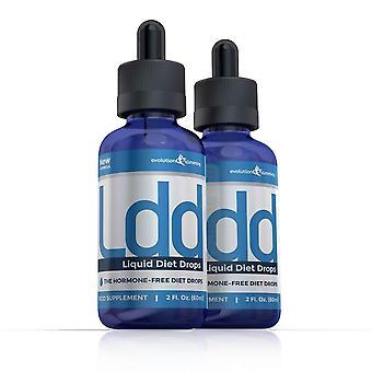 Gestion du poids LDD (Liquid Diet Drops) gouttes - 2 bouteilles - gouttes de perte de poids - minceur Evolution