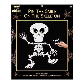 Halloween Party Game - Pin de glimlach op het skelet