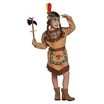 Costume bambino pelle di colore rosso indiano Squaw Western