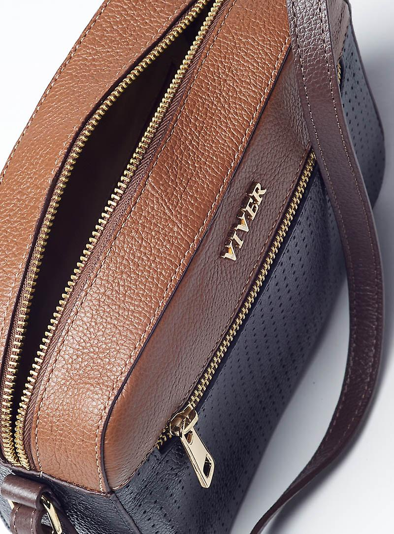 Viver Leather Crossbody Bag Belle Duo
