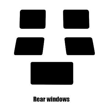 Pre gesneden venster tint - Mercedes G-klasse - 2006 en nieuwer - achterzijde windows