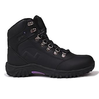 Gelert Womens Leather Walking Boots Outdoor Hiking Ankle High Laced Shoes Ladies