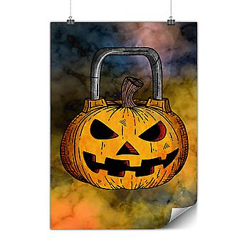 Matte or Glossy Poster with Halloween Workout Gym | Wellcoda | *y3538