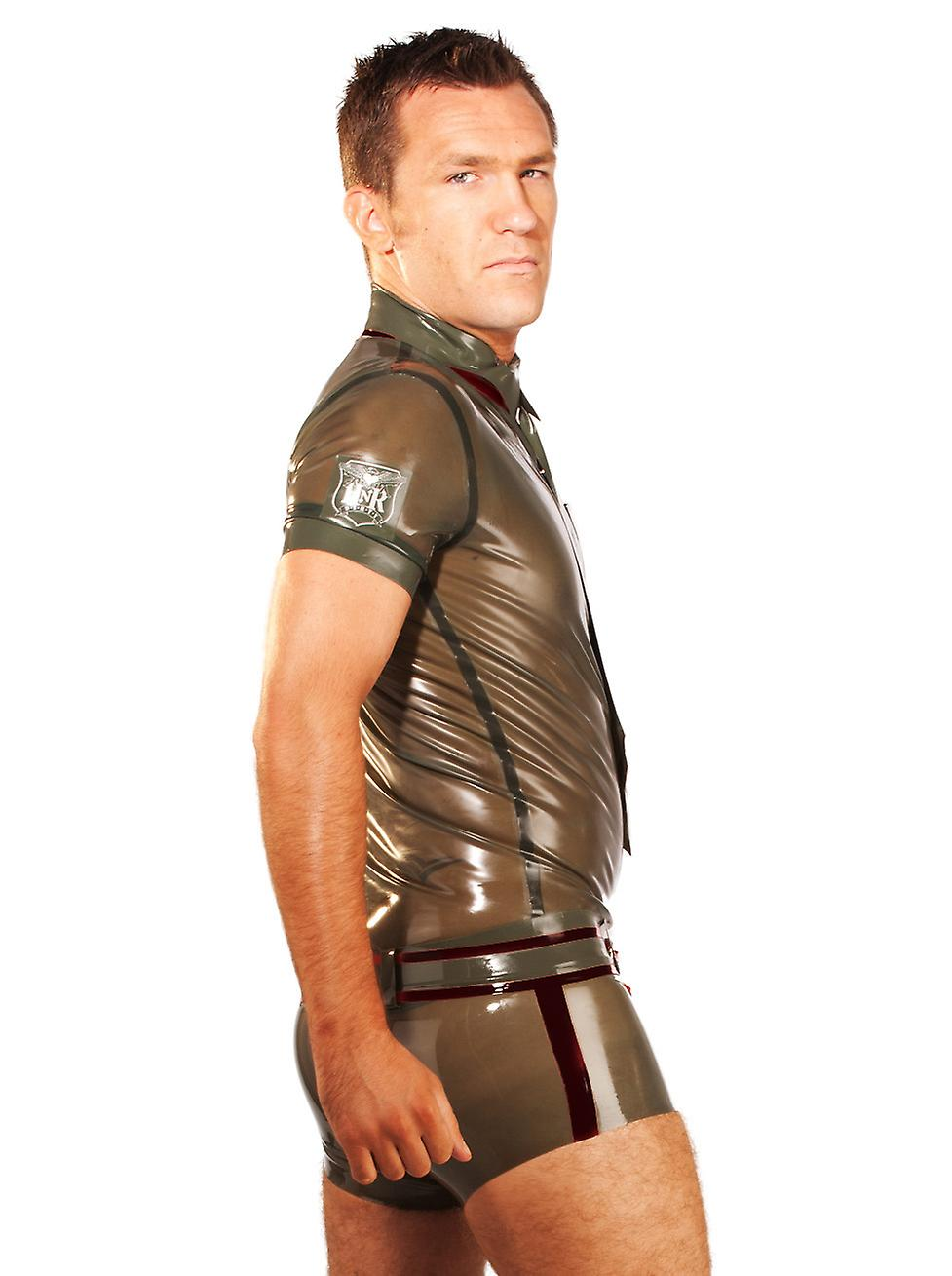 Honour Men's Shorts in Rubber Green & Black Sexy Military Style Costume