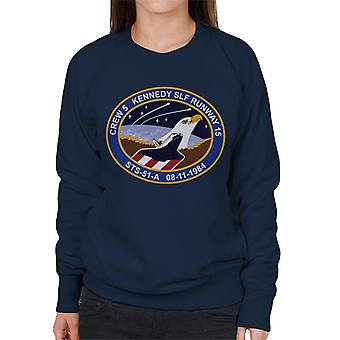 NASA STS 51 A Discovery Mission Badge Women's Sweatshirt