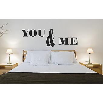 Du og meg soveromsveggen klistremerke tilbud