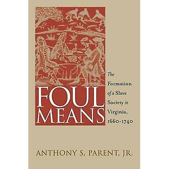 Foul bedeutet - die Bildung einer Slave-Gesellschaft in Virginia - 1660-1740