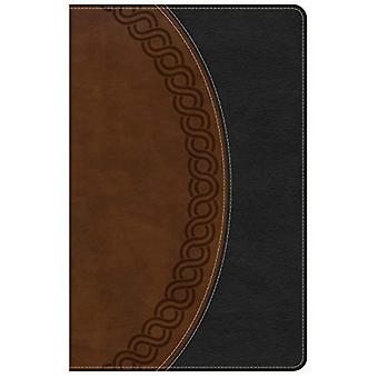 NKJV Large Print Personal Size Reference Bible, Black/Brown Deluxe Leathertouch