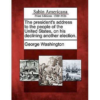عنوان رئيسي لشعب الولايات المتحدة في بلده انخفاض آخر انتخابات. قبل واشنطن & جورج