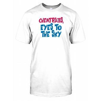 Chemtrails olhos para o céu - conspiração crianças T camisa