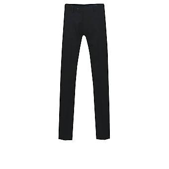Czarny garnitur Dobell męskie spodnie regularny krój