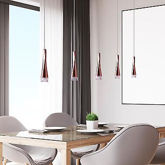 Ceiling Light LED Pendant Lamp Dining Room Hanging 5 Pendant Rectangular Canopy