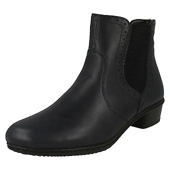 Mesdames Rieker Fleece Lined cheville bottes Y0771