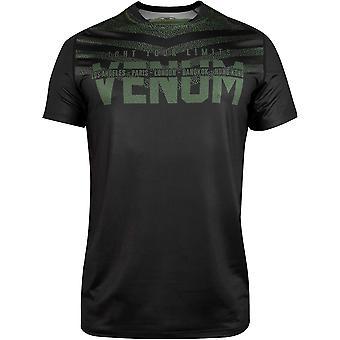 Venum Signature Dry Tech Short Sleeve T-Shirt - Black/Khaki