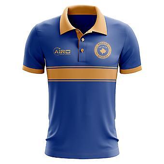Kosovo Concept Stripe Polo Shirt (Blue) - Kids