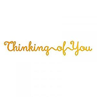 Ultimate Crafts Hotfoil Stamp Thinking of You (3.2 x 0.6in) (ULT158116)