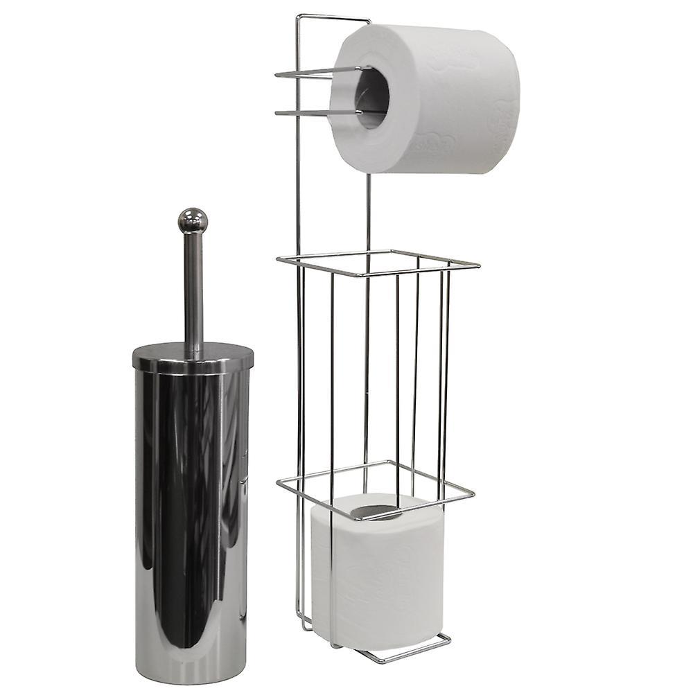 Valencia - kromi WC-harja ja Loo Roll annostelija - hopea