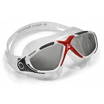 Aqua Sphere Vista™ White / Red Swim Goggles- Smoke Lens