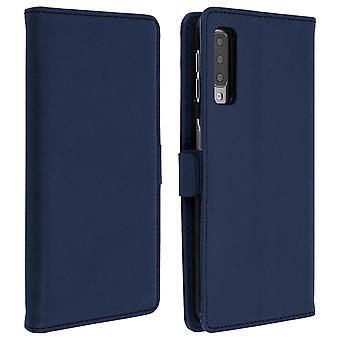 Samsung Galaxy A7 2018 Case Wallet Stand Support DZgogo - Dark Blue