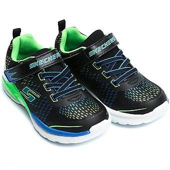 Skechers  Erupter II Lava Arc Boys Trainer, Black/Blue/Lime