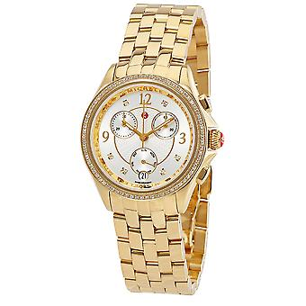Michele Belmore Chronograph Gold-Tone Ladies Watch MWW29B000009