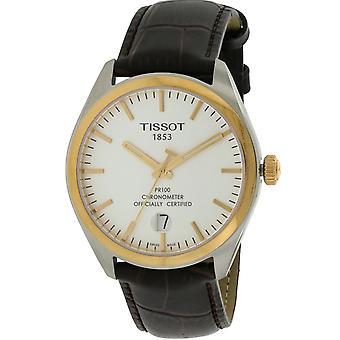 Tissot PR100 leder Mens Watch T1014512603100