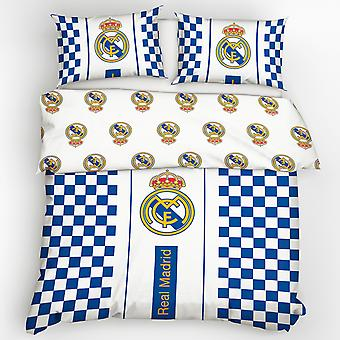 Real Madrid CF Checked Cotton Duvet Cover Set