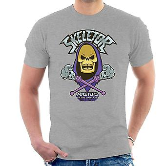 Masters Of The Universe Skeletor Skull And Cross Staves Men's T-Shirt