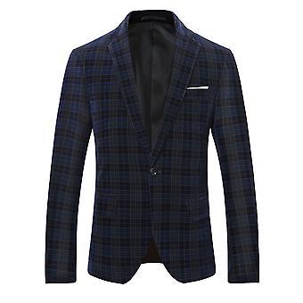 Allthemen miesten Business Casual ruudullinen bleiseri puku Line Grid painettu korkealaatuinen takki Classic Wild Coats