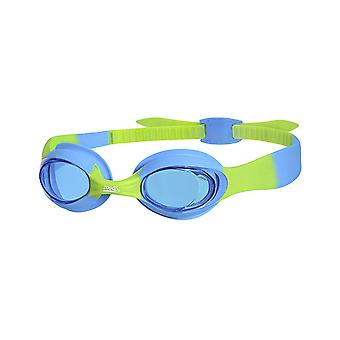 Zoggs Swimming Goggles for Children Little Twist in Blue/Green/Tint - 0-6yrs
