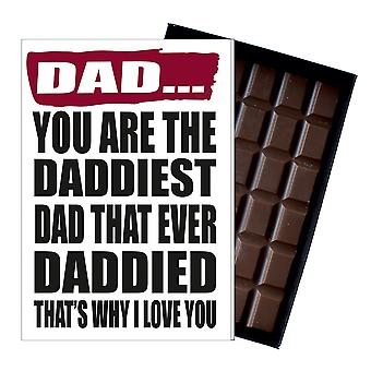 Funny Birthday Fathers Day Gift for Dad Daddy Boxed Chocolate Greetings Card Present IYF161
