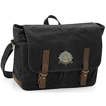 Bedfordshire Regiment - Licenza British Army Ricamato Waxed Canvas Messenger Bag