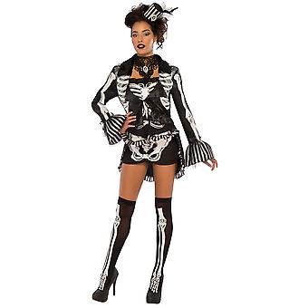 Elegant Skeleton Day Of The Dead Mexican Voodoo Halloween Womens Costume