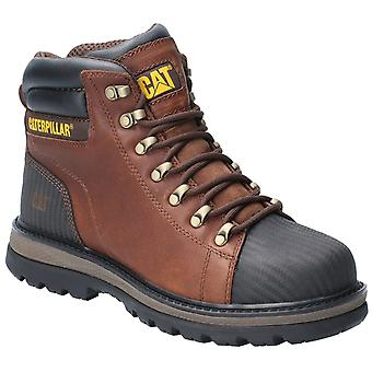 Caterpillar Mens Foxfield Lace Up Safety Boot Oak