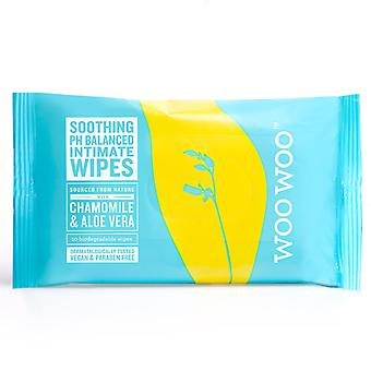 Woo Woo Soothe It! 20 x Chamomile & Aloa Vera Intimate Wipes
