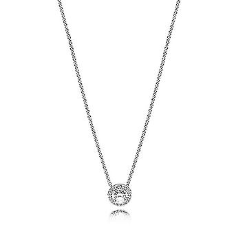 Pandora Silver Woman Pendant Necklace - 396240CZ-45