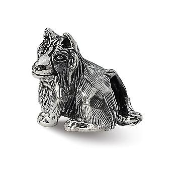 925 Sterling Silver Polished finish Reflections Shetland Sheepdog Bead Charm Pendant Necklace Jewely Gifts for Women
